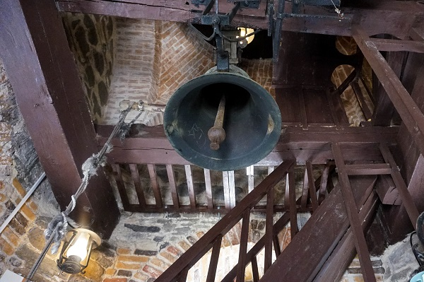 The large bell inside the Tower of Ștefan the Great. Piatra Neamt