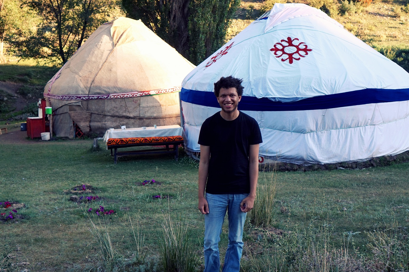 yurt life in kazakhstan - nomad life, steppe