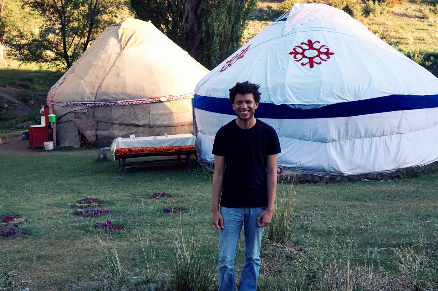yurt life in kazakhstan - nomad life, steppe