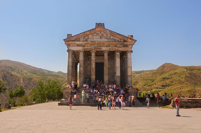 In a land of endless churches, the ancient Garni temple stands out no less impressively than the Parthenon in Athens or the Pantheon in Rome. Tradition holds that the monument was first built during the 1st century of our era by the Armenian king Tiridates as a temple dedicated to Mihr.