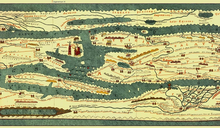 Tabula Peutingeriana is based on was drawn in the 4th or 5th century due to its depictions of Constantinople.