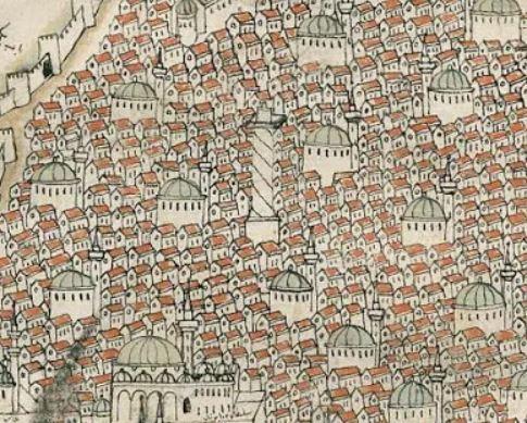 Piri Reis Constantinople 1521 - column of constantine